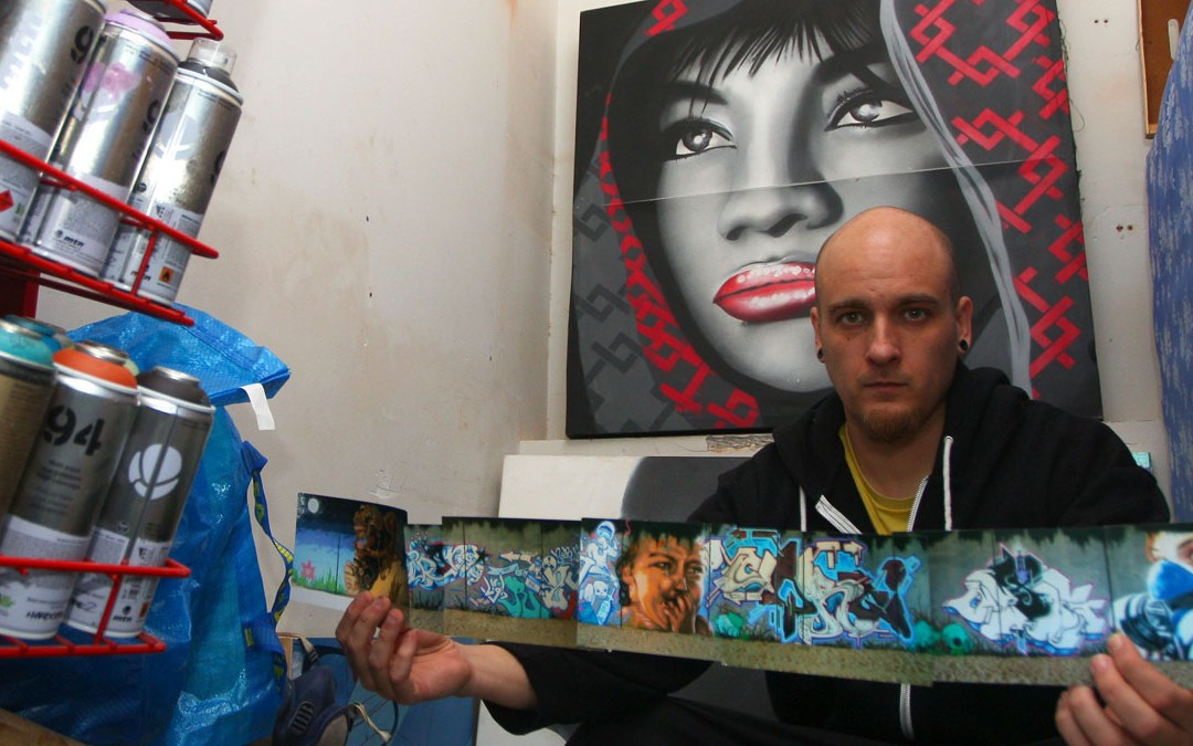 Graffiti en vivo con Asier